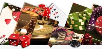 Kasinopelejä, pelimerkkejä ja kortteja